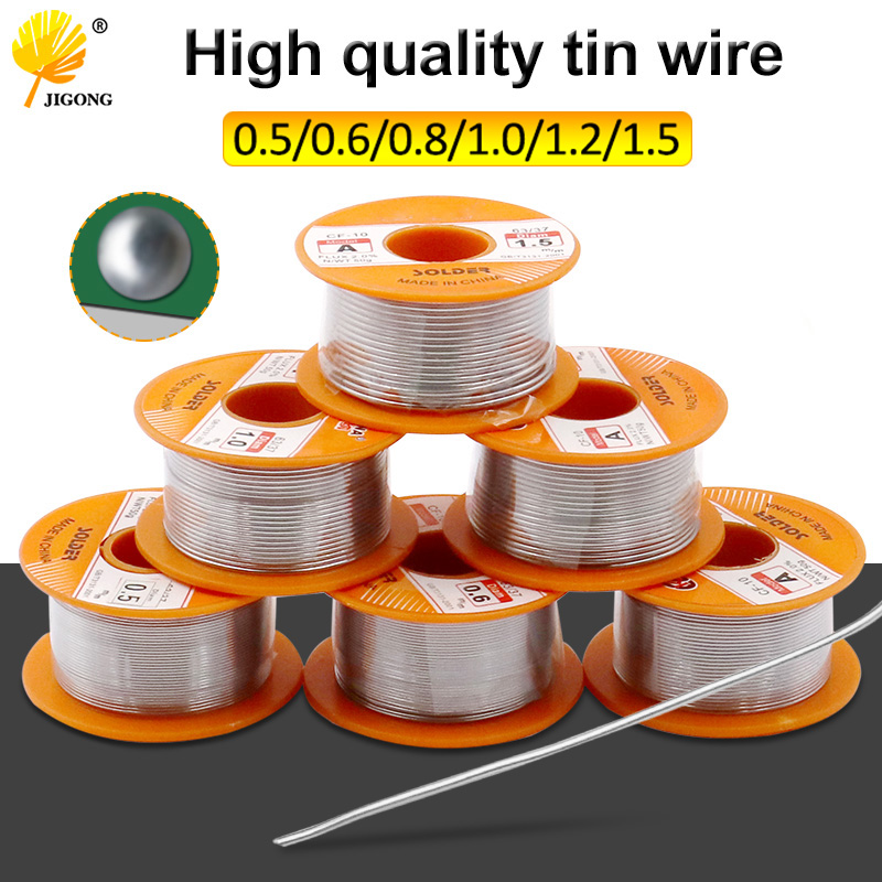 0.5 0.6 0.8 1 1.2 1.5MM 63/37 FLUx 2.0% 45FT Tin Lead Tin Wire Melt Rosin Core Solder Soldering Wire Roll