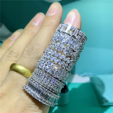 Bohemia Fashion Shinny White Cute Ring 925 Sterling Silver AAAAA CZ zircon Finger Ring Attractive Women Girls Wedding Jewelry(China)
