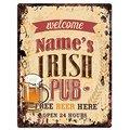 Индивидуальный оловянный шикарный знак в стиле ирландского паба любого названия, винтажный стиль в стиле ретро, кухня, бар, паб, кофейня, дек...
