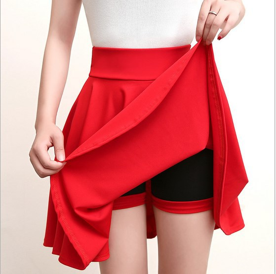 Large Size Fat Mm Skirt WOMEN'S Skirt Students Spring And Summer Versatile A- Line Skirt High-waisted Dancing Tutu Slimming Midi
