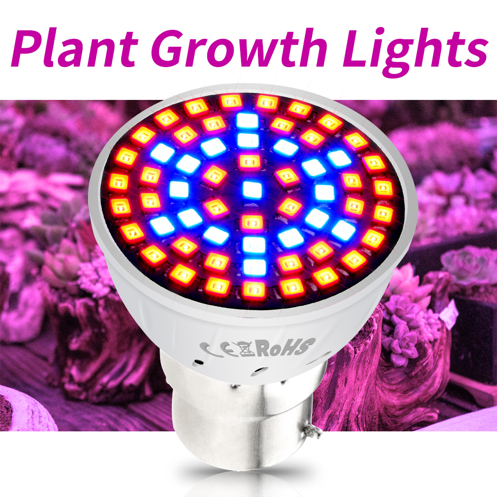 E27 LED Growing Lamps E14 Grow Light Full Spectrum GU10 Plant Lighting Fitolampy GU5.3 Ampoule For Plants Seedling Cultivation