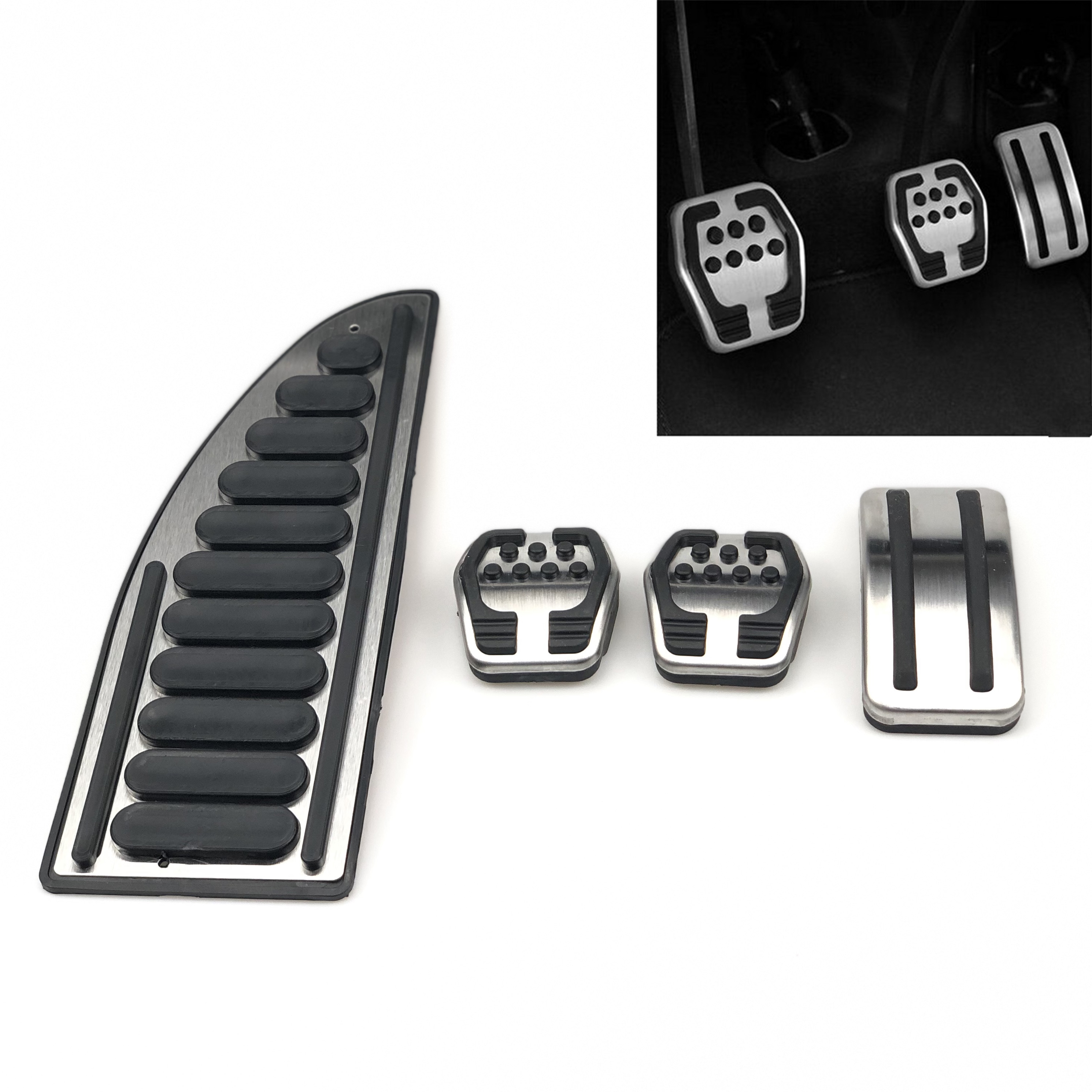 Car Accessories Stainless Steel Pedal For Ford Focus KUGA Escape Escort C-Max S-Max Mondeo Fusion MK4 For Mazda3 For LINCOLN MKC