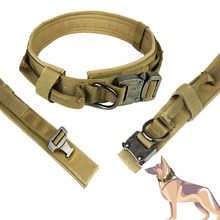 Nylon Heavy Duty Dog Pet Belt Strap Collar Outdoor Army Police Dog Adjustable Big Large Medium Small Dog Husky Supplies Training(China)