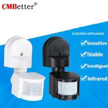Lâmpada de parede de luz Sensor de Movimento PIR Detector de Microondas Ao Ar Livre à prova d' água DC12V 24V 220V PIR Interruptor Sensor De Movimento Ajustável