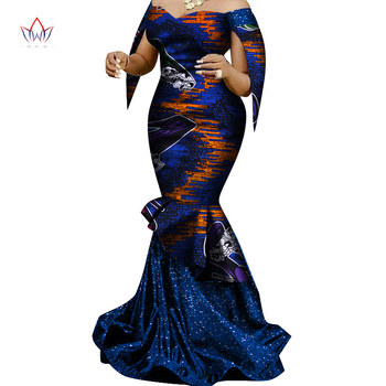 Made in China 2020 Fashion African Dresses for Women Dashiki Plus Size African Clothes Bazin Plus Size Party Dress WY6830