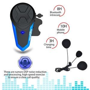 Image 4 - Fodsports 2 chiếc BT S3 Xe máy Bluetooth Liên Lạc Nội Bộ Xe Máy Mũ Bảo Hiểm Tai Nghe Chống Nước BT Interphone Intercomunicador FM