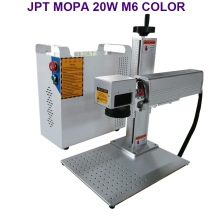 20W MOPA fiber laser marking machine colorful for all kinds of metal materials JPT