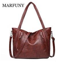Vintage Handbags For Women 2019 Female Leather Shoulder Bag High Quality Tote Weaving Bags Lady Shoulder Bags sac a main femme