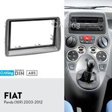 Двойная Din Автомобильная радиопанель Fascia Для FIAT Panda (169) 2003 2012, комплект для установки аудиорамы, приборной панели, лицевая панель