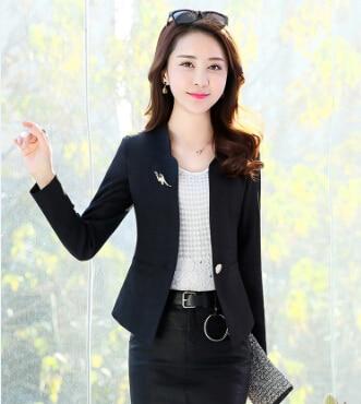 C50168 Fashion 2019 Autumn OL Work Wear Blazer