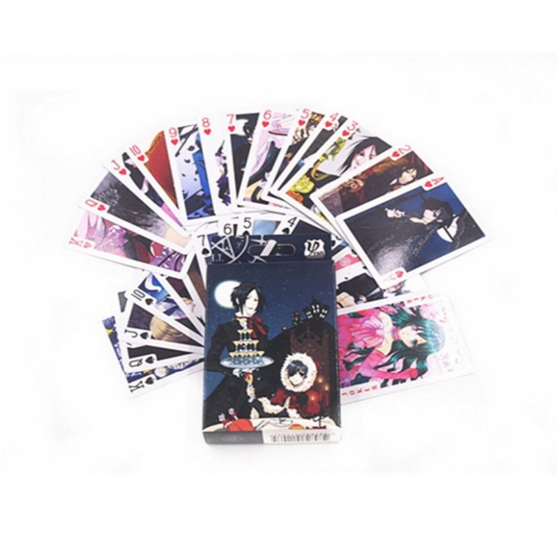 10 Boxes/lot Anime Black Butler Poker Cards Cosplay Ciel Vincent Board Game Cards With Box Playing Cards Desktop Game Card