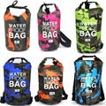 Outdoor Camouflage Waterproof Dry Bag Portable Rafting Diving Dry Bag Sack PVC Swimming Bags for River Trekking 2/5/10/15/20/30L