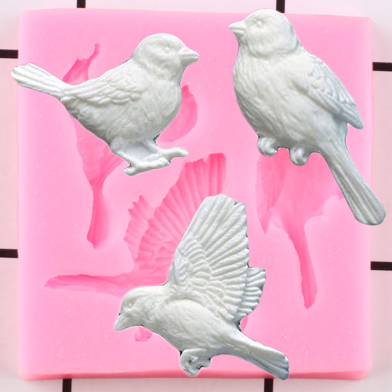 3D Birds Silicone Molds DIY Party Candy Chocolate Baking Mold Cupcake Topper Fondant Cake Decorating Tools Soap Resin Clay Mould|Clay Extruders|   - AliExpress
