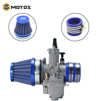 ZS MOTOS Motorcycle PWK 21 24 26 28 30 32 34mm Carburetor + Air Filter + Intake Manifold Boot Holder For ATV Scooter Racing