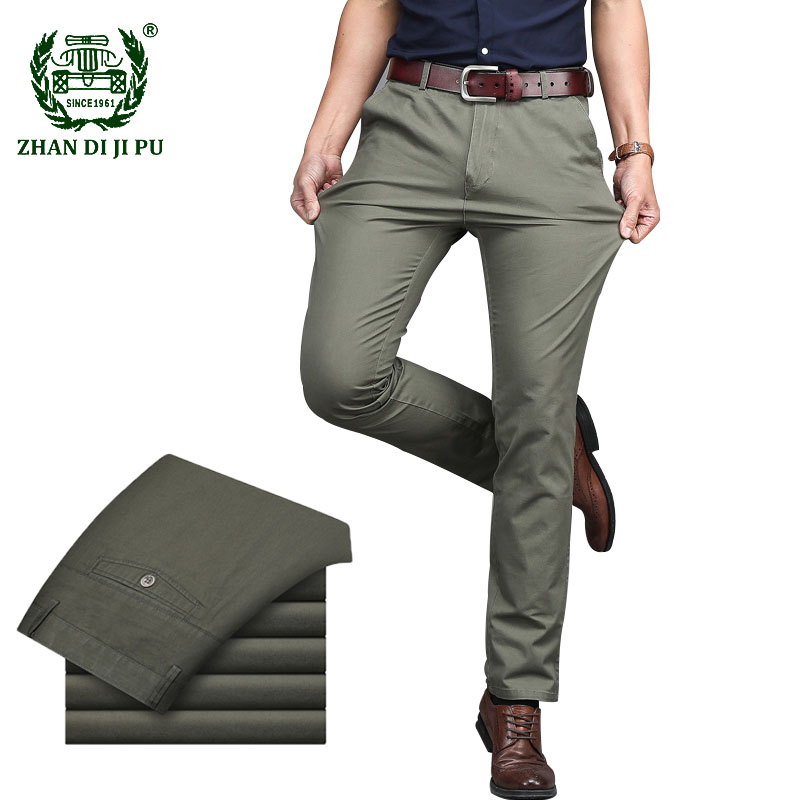 Mens Suit Pants High Quality Business Casual Dress Long Pant Men Classic Straight Office Formal Trousers Male Large Size 29-42