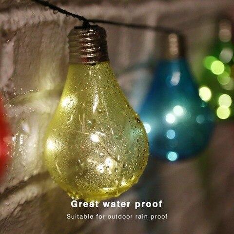globo solar luzes cordas de fadas luzes