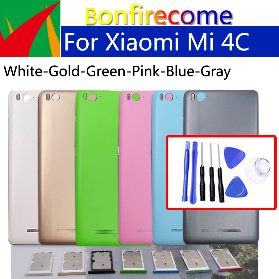 Battery Back Cover For Xiaomi Mi4C Mi 4C Back Battery Door Rear Housing Cover Case Chassis Shell Replacement