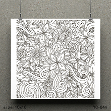 ZhuoAng In the flowers model Clear Stamps For DIY Scrapbooking/Card Making Decorative Silicon Stamp Crafts