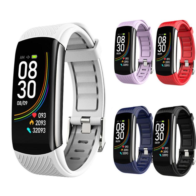 C6T Smart Watch Bracelet Wristband Waterproof Fitness Tracker Body Temperature Monitoring Blood Pressure Heart Rate Monitor