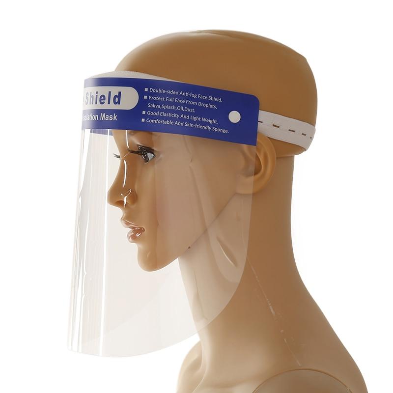 1 Pcs Transparent Anti Splash Dust-proof Full Face Covering Mask Visor Shield Safety Isolation Mask
