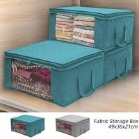 1/3 Pcs Large Capacity Quilt Storage Box Folding Non-Woven Closet Clothes Dust-Proof Storage Bag Home Blanket Pillow Organizer