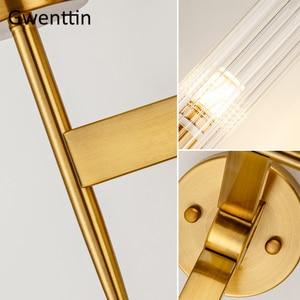 Image 5 - מודרני זהב קיר מנורת Led נורדי מראה קיר אור גופי זכוכית פמוט לסלון חדר שינה בית לופט תעשייתי דקור e27