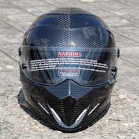 2020 New ATV-4 Motorcycle Helmet Carbon Fiber Coat Mount Motorcycle Full Face Helmet Capacete Motocross Four Seasons General XS