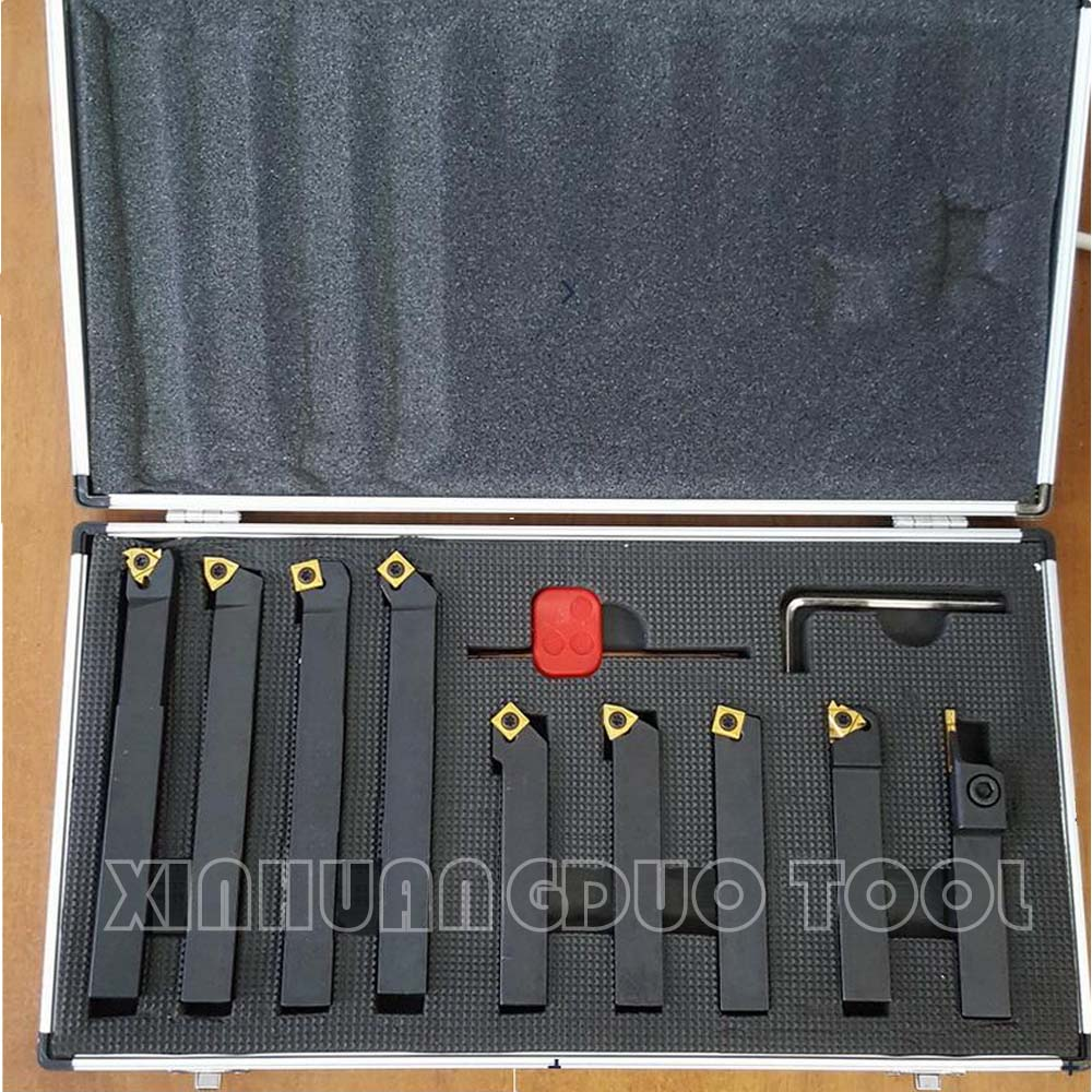 2 x Turning Tools Set,12mm Shank Lathe Boring Bar Turning Tool Holder