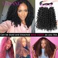 Yvonne 3C 4A малазийские вьющиеся девственные пряди волос 1/4 пряди ков человеческие волосы плетения естественного цвета