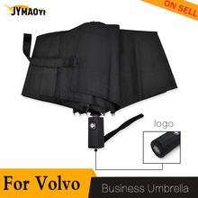 For Volvo umbrella for car logo automatic sun cover Folding