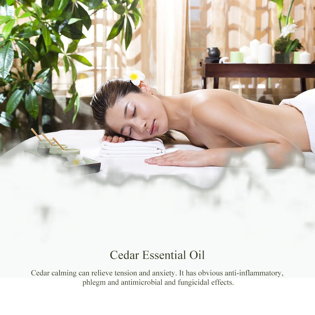 10ml Cedarwood Essential Oils For Aromatherapy Diffusers Relieve Stress Essential Oils Organic Body Help Sleep Flower Fruit Oil