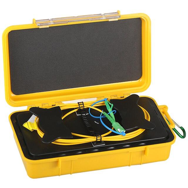 500m SM FC/SC/LC APC/UPC reflektometr światłowodowy skrzynka z przewodami rozruchowymi jednomodowy Eliminator strefy martwej OTDR pierścienie światłowodowe skrzynka na kable