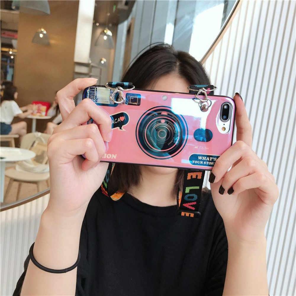Bluray 카메라 케이스 10 프로 8 9 M30 M20 S10 5G S9 플러스 S8 S7 가장자리 A10 A20 A50 A60 A70 A40 손목 밴드 커버