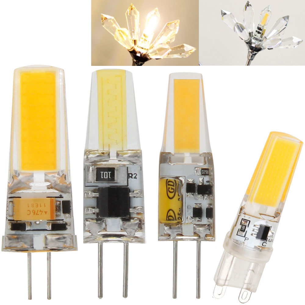 Dimmable LED G4 G9 Lamp Bulb AC/DC Dimming 12V 220V 3W 6W COB SMD LED Lighting Lights Replace Halogen Spotlight Chandelier