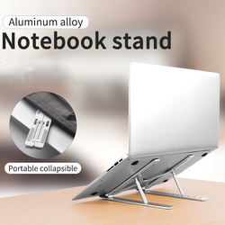 Portatile Supporto laptop 6 altezze Regolabile Supporto Della Staffa In Lega di Alluminio Desktop Per Notebook MacBook Del Computer Antiscivolo