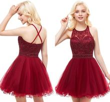 Short Prom Dresses for Juniors Embroidery Appliques Tulle Homecoming Dress Backless Teens Semi Formal Special Occasion Dresses champagne new arrival juniors graduation dress glitz mermaid pageant dresses for juniors girls prom gowns for special occasion