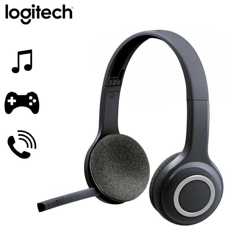 Logitech H600 Wireless Gaming Headphones With Noise Canceling Mic Nano Usb Wireless Headset For Almost Operating Systems Phone Earphones Headphones Aliexpress