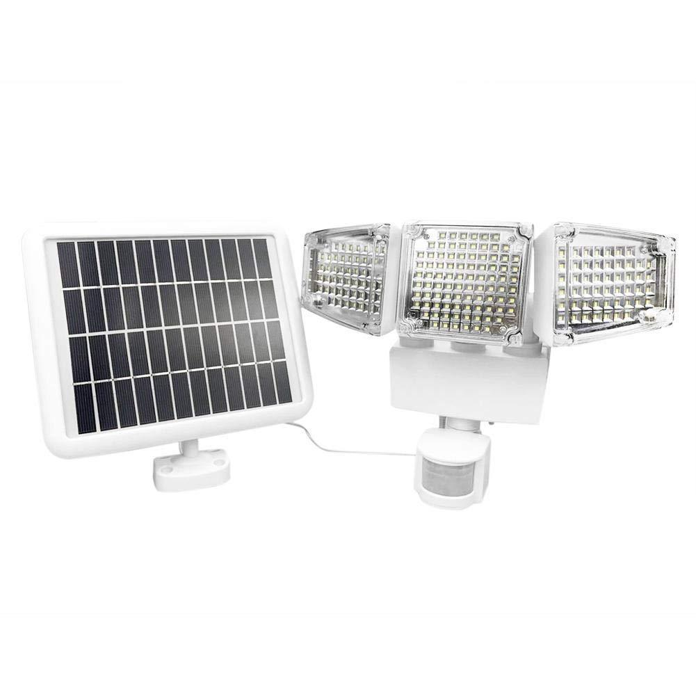 SOLLED 1000lm 188led Light Solar Garden Induction Lamp Waterproof Three-head Wall Lamp