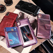 Flip Mirror Wallet Leather Phone Case For iPhone Xs Max XR X 8 7 6S 6 Plus Luxury TPU PU Card Slots Back Cover Capa