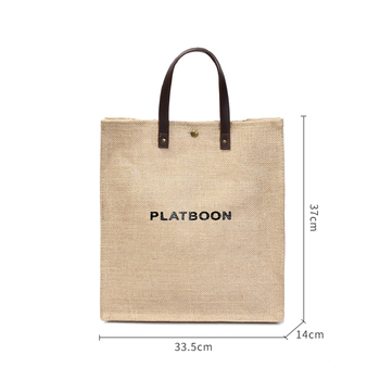2 PCS/Set  vintage Tote Shopping Bag Eco-Friendly Reusable Linen Handbags Japanese Large Capacity Shoulder Bag 6