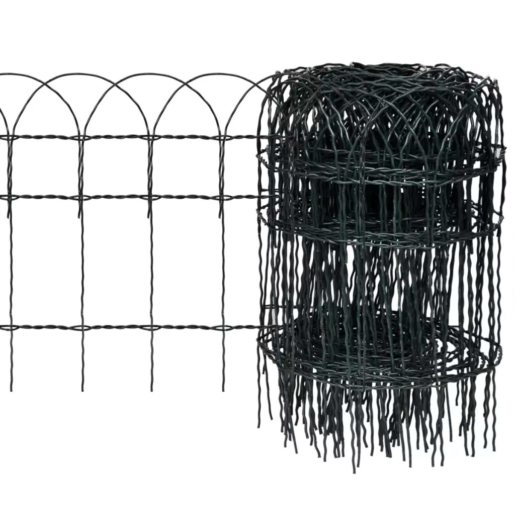 VidaXL Garden Border Fence Powder-Coated Iron 10x0.4 M Garden Border Fence Suitable For All Types Of Outdoor Use