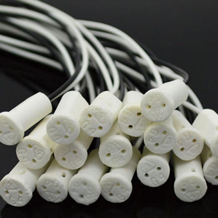 10 pièces 20cm connecteur de support de prise de haute qualité G4 tête en céramique LED ampoule halogène