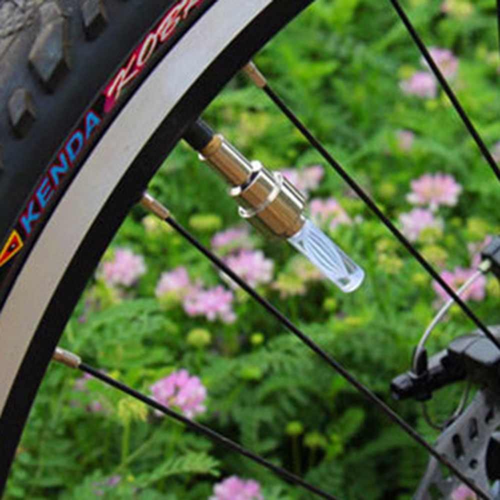 1 Buah Keren Sepeda Sepeda Roda Ban Batang Katup Udara Topi Multi Warna Lampu LED Aman Senter Metal Gelap lampu Malam