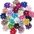 20 шт. атласные ленты, банты с цветами розы, свадебные аппликации, ремесло, украшения