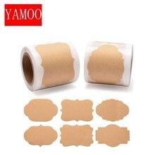 250 pces por rolo 2*1.2 polegada em branco adesivos scrapbooking etiquetas etiqueta para embalagem e decoração de casamento diy papelaria adesivo