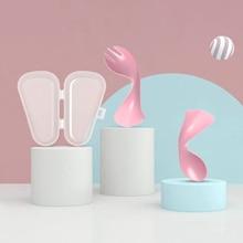 От компании Let's Make 2 шт./компл. силиконовая ложка с вилкой изгиб Детские товары безопасный Гладкий миска для кормления детей Детские Еда