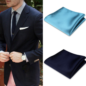 Solid Plain Men Suit Pocket Handkerchief Solid Color Pocket Square Scarf Wedding Dress Chest Towel Handkerchief