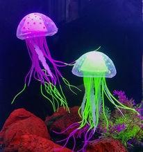 Uds Artificial brillante luna medusas tanque de peces adornos subacuáticos decoración acuáticos, suministros para mascotas, accesorios para el hogar