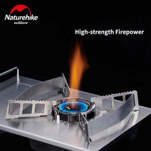 Image 3 - Naturehike 2019 New Outdoor Desktop Stove Cassette Furnace Portable Stove Wild Barbecue Oven Card Magnetic Furnace BBQ Gas Stove