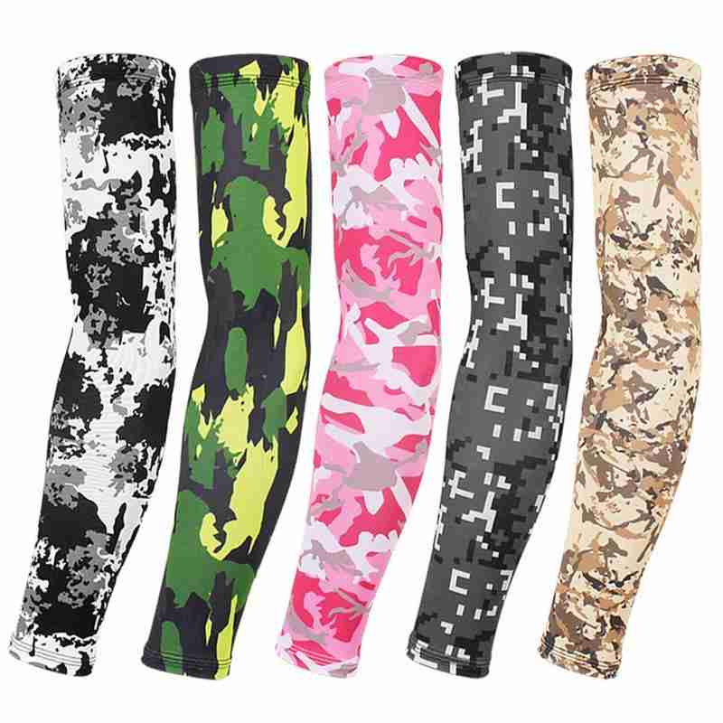 1pc Visor Sleeve Men Women Military Fan Tactical Camouflage Ice Silk Sunscreen Sleeves Outdoor Sports Riding Quick Dry Arm Guard